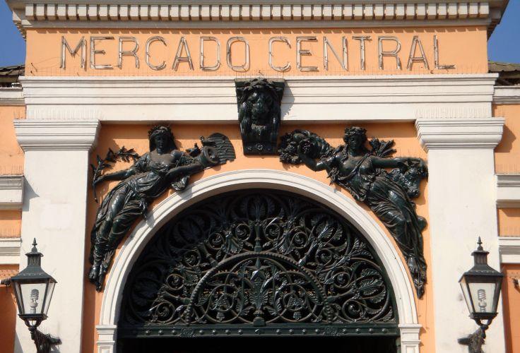 Enter the Mercado Central - District Bellas Artes - Santiago - Chile