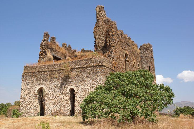 Vue du chateau de Guzara - Gondar - Ethiopie