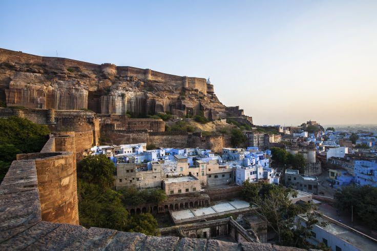 Mehrangarh Fort and Blue City - Jodhpur - Rajasthan - India