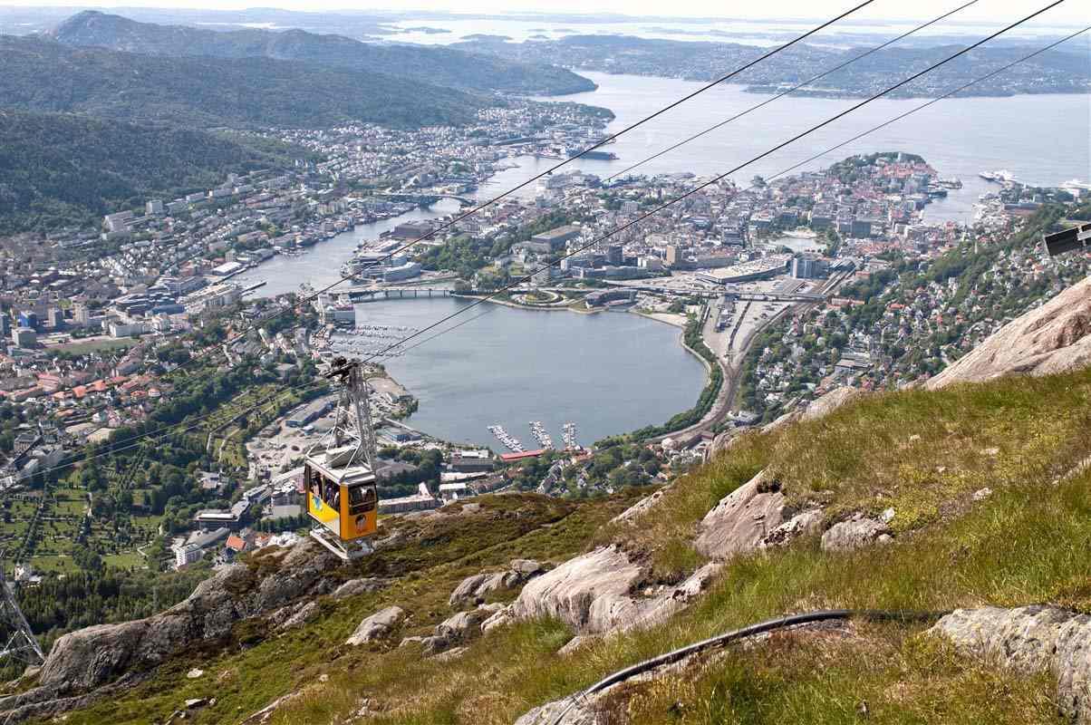 Téléphérique sur le Mont Ulriken - Bergen - Norvège